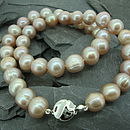 Freshwater Pearl Necklace (Dusky Pink)