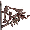 Cast Iron Sitting Bird Hanging Basket Bracket