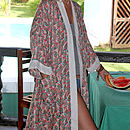 Thumb feather frolic short kimono dressing gown