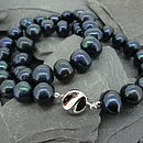 Freshwater Pearl Necklace (Midnight Blue)