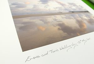 Personalised Wedding Day Sunrise Photograph