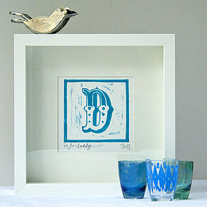 Individual Alphabet Letter, Lino Cut - posters & prints