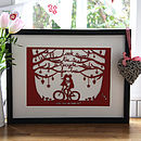 Wedding Bicycle Papercut Or Print