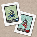Personalised Bicycle Race Print