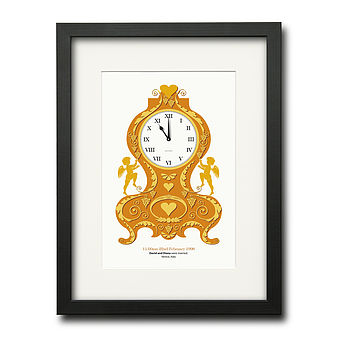 Baroque clock_BLACK FINISH FRAME