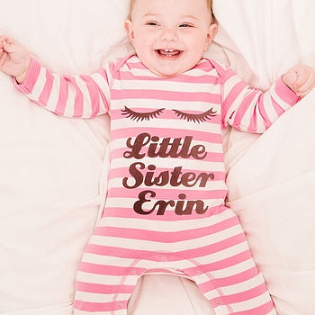 Personalised 'Little Sister' Romper