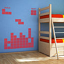 Retro Building Block Game Wall Sticker Set