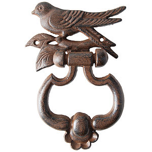 Cast Iron Bird Door Knocker - door knobs & handles
