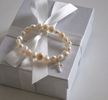 Holy Communion Bracelet with cross