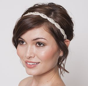 Victoria I Bridal Headband - hats, hairpieces & hair clips