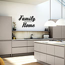 'Family Home' Wall Sticker