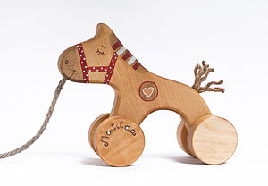 Personalized Wooden Winking Horse - toys & games