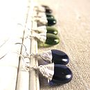 All Wrapped Up Teardrop Glass Earrings