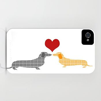 Dachshund Dogs In Love Case For IPhone