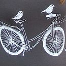 Organic Women's 'Birds On A Bike' T Shirt