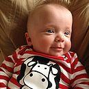 'Cow Says Moo' Romper Suit