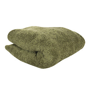 Large Olive Fleece Home And Pet Blanket