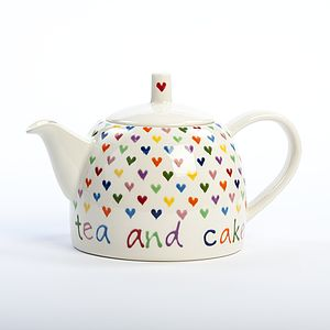 Personalised Hand Painted Love Heart Teapot