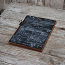 Reclaimed Wood And Leather Chalkboard Pad