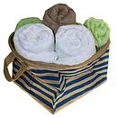 Jute Striped Storage Basket