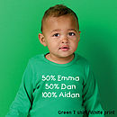 Green T shirt/White print