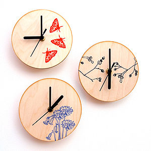 Screen Printed Clock - clocks