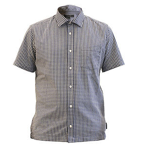 Dunderdon, Chambray Short Sleeved Shirt - shirts