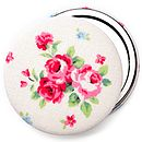 Mixed fabric compact mirrors, perfect as wedding favours