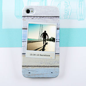 Wood Design Polaroid Photo Case For iPhone And Galaxy