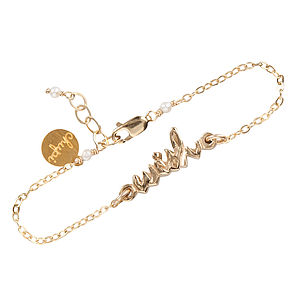 Gold Don't Forget To 'Wish' Bracelet - bracelets & bangles