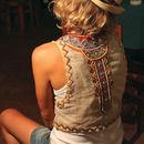 'Machu Picchu' Embroidered Linen Waistcoat