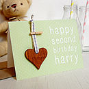 Personalised New Baby Keepsake Card Green