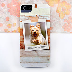 Personalised Wood Design Photo Phone Case