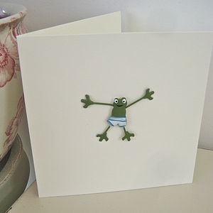Frog Handmade Card - all purpose cards