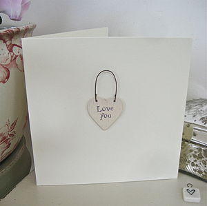 'Love You' Handmade Card - sentimental cards