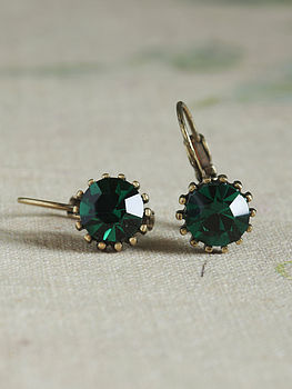 Mati Emerald Crystal Earrings