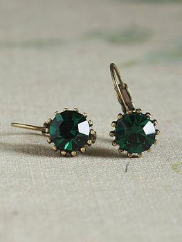Mati Emerald Crystal Earrings