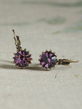 Mati Amethyst Crystal Earrings