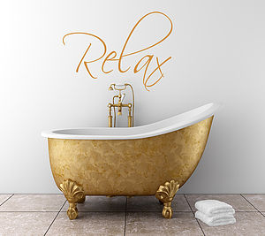'Relax' Bathroom Sticker - pictures, prints & paintings