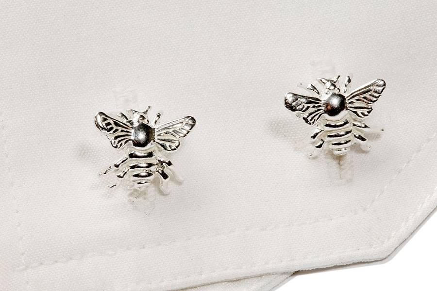 8c690507d sterling silver bee stud earrings by simon kemp jewellers ...
