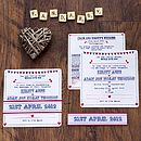 Bunting and Birds Wedding Invitation Full