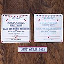 Bunting And Birds Wedding Invitation Colour Options
