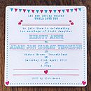 Bunting And Birds Wedding Invitation Pink Turquoise