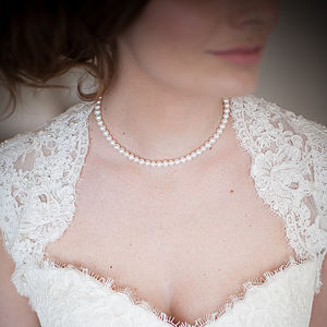 Ivory Elegance Pearl Necklace - necklaces & pendants