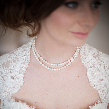 Mimosa Double Row Pearl Necklace