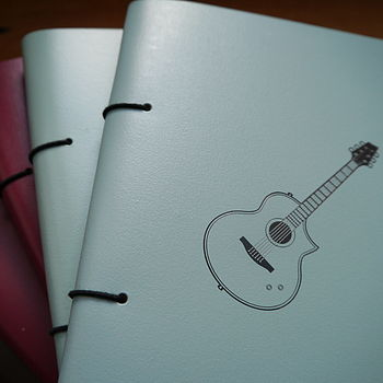 Personalised Leather Guitar Journal