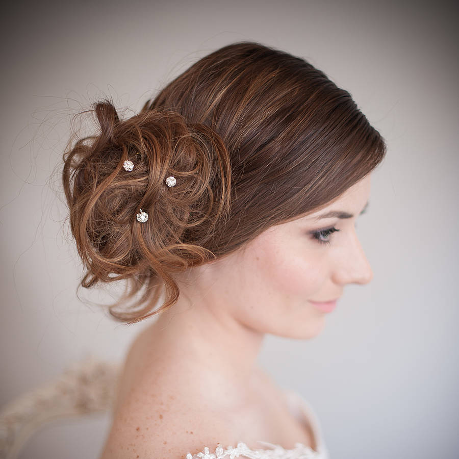 Bridal Hair With Pins : Wedding hair bridal accessories pearl