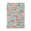 Boat Nostalgia blank notebook on white