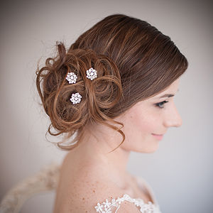 Set Of Divinity Wedding Hair Pins - hats, hairpieces & hair clips