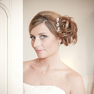 Set Of Three Vanessa Wedding Hair Pins - bridal hairpieces